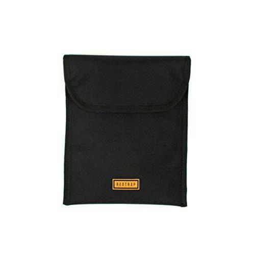 Strap laptop/tablet sleeve, tas voor tablet/computer voor volwassenen, unisex, zwart