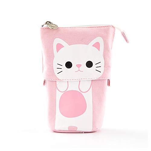 Wusheng Pencil Case Cute, Cartoon Cute Cat Telescopic Pencil Pouch Bag Stationery Pen Case Box with Zipper Closure Pen Box for Girls (Little Yellow Chicken)