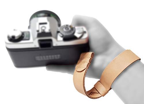 Mind Care Essentials - Correa de piel para cámara réflex digital compacta, color marrón claro