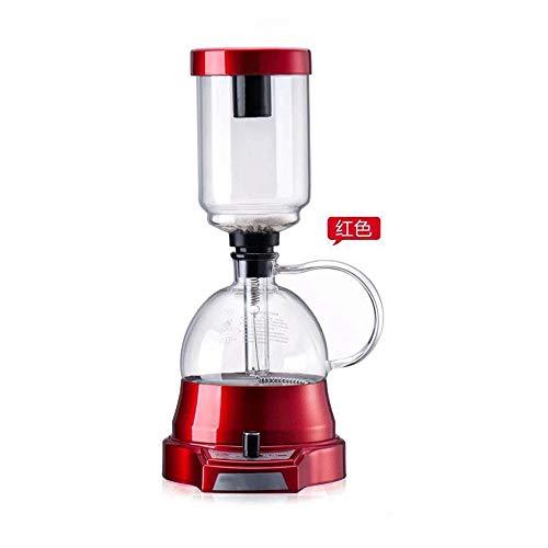 Sifon Ambachtelijke Koffiezetapparaat Sifon Koffiezetapparaat Thee Sifon Pot Vacuüm Koffiezetapparaat Glas Type Koffiezetapparaat Filter (500W),Red