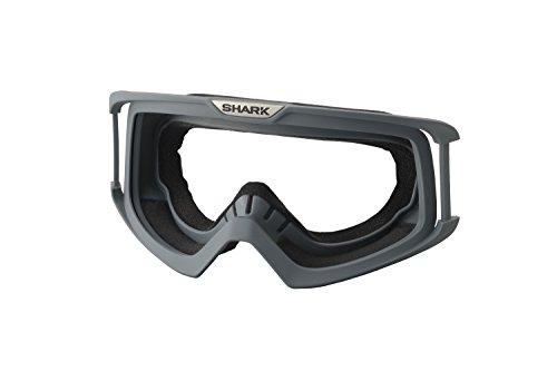 Shark Raw / VANCORE Motorrad Helm Ersatz Brille nur Fassung Silber