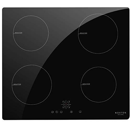 NOXTON piano cottura induzione 4 fuochi elettrico 60 cm con sensore Touch Control