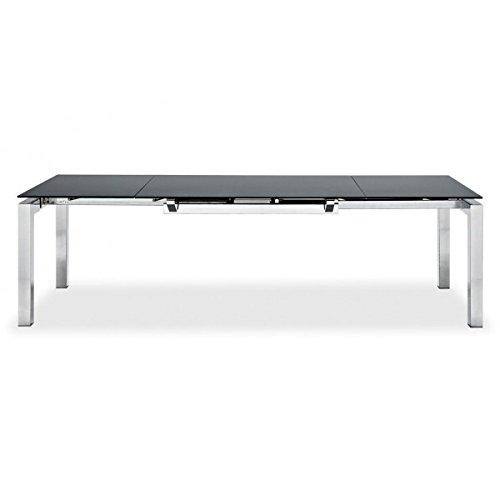 Calligaris Connubia by Ausziehtisch Airport – Gestell: Metall grau matt P16 – Tischplatte: gehärtetes Siebdruck, extra hell GEW