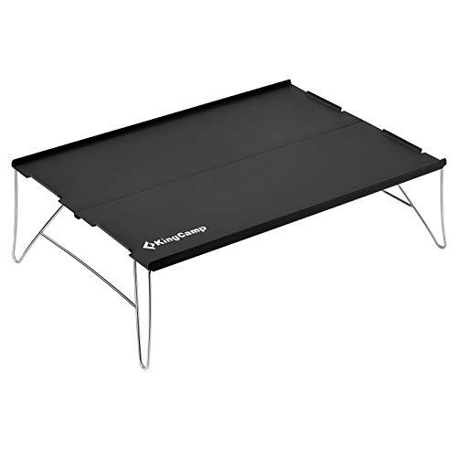 KingCamp アウトドア テーブル ミニ ソロ キャンプ フィールドラック ローテーブル コンパクト 折りたたみ