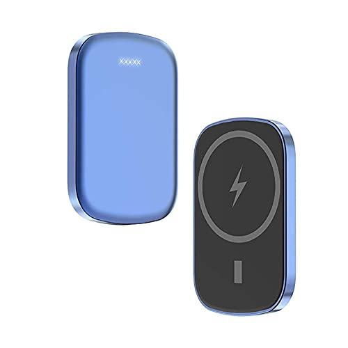 Kettles Banco de energía inalámbrica 10000mAh - Cargador de mag-Safe 15W Funda de batería magnética con Cargador rápido Compatible con por teléfono 12/12 Mini/Pro/MAX