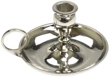 CircuitOffice Old Fashion Nickel Chime Candle Holder for 1 2 Diameter Chime Candle with Finger product image