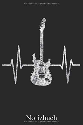 Notizbuch - Gitarre Herzschlag: Gitarrist EKG Frequenz Notizheft, Schreibheft, Tagebuch (Taschenbuch ca. DIN A 5 Format Liniert) von JOHN ROMEO