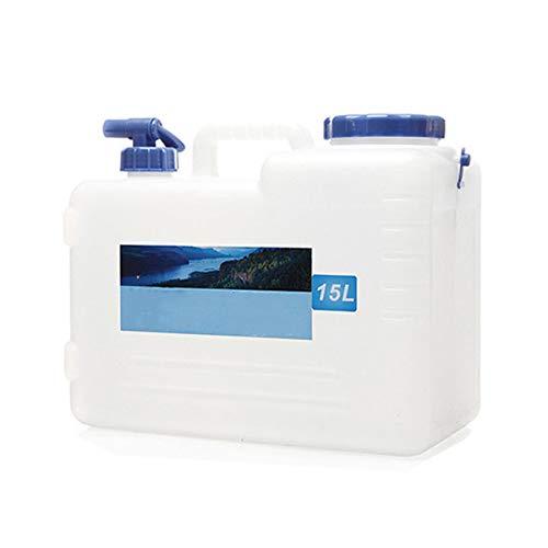 Breezeu Cubo de Agua de Coche de Viaje de Acampada Al Aire Libre Recipiente Portador de Agua con Grifo de Agua y Tapa a Prueba de Fugas 15L
