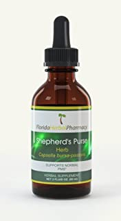 Florida Herbal Pharmacy, Shepherd`s Purse(Capsella Bursa-pastoris) Tincture/Extract 2 oz. (Pack of 2)