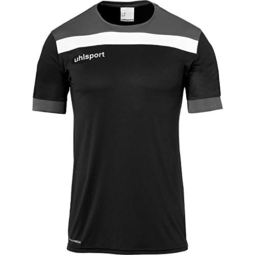 uhlsport Herren Offense 23 Trikot Kurzarm Fussball Trainingsbekleidung, Bordeaux/Marine/Fluo gelb, XL