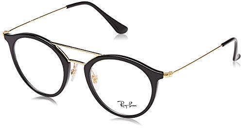 Ray-Ban Unisex-Erwachsene 0rx 7097 2000 49 Brillengestell, Schwarz (Shiny Black)