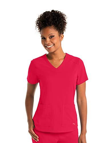 Grey's Anatomy GRST011 Women's Emma Scrub Top Scarlet Red M