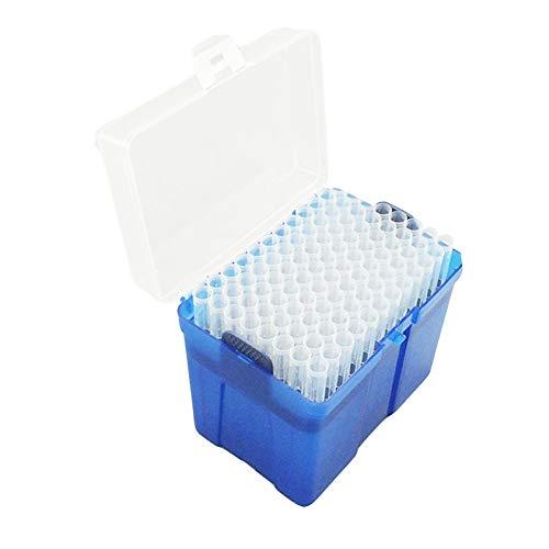 1000μl Clear Pipette Filtered Tips Transparent Liquid Pipette Pipettor Tube with Pipette Tips Box, Pack of 96