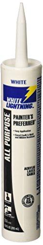 White Lightning Products 30010 Painter's Preferred Acrylic Latex Caulk, White
