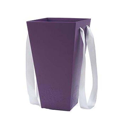 Ensemble de 5 Boîte à fleurs Emballage cadeau Art Déco Paniers Creative fleurs, Violet