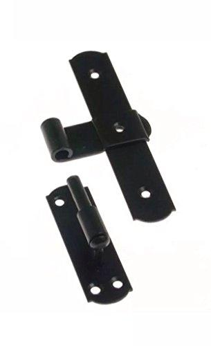 Kreuzbänder, Tormittelband, Türband, 170 mm, mit Kloben, schwarz