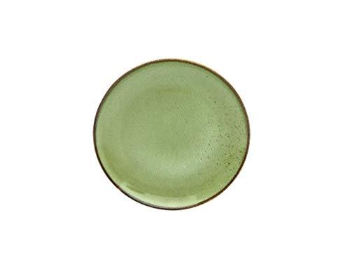 Creatable, 6-er Dessertteller 20 cm, Nature Collection, GREEN 22052, Steinzeug