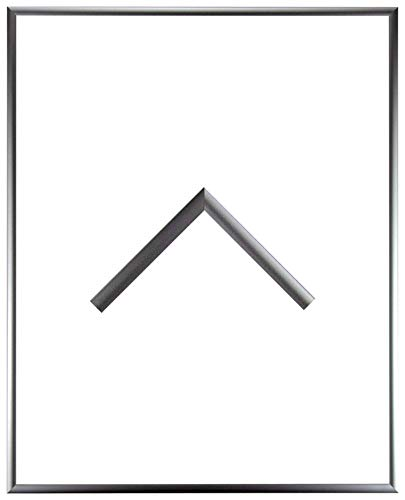 RahmenMax Aluminium Bilderrahmen Alaska 24 x 34 cm aktuelle Farbe: Silber Matt mit Acrylglas klar 1mm. Posterrahmen aus echtem Metall/Aluminium. Anfertigung nach Maß möglich.