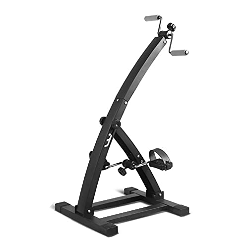 Entrenador de Pies y Manos, Bicicleta de Rehabilitacion ajustable para ancianos, entrenamiento de rehabilitación de hemiplejía por accidente cerebrovascular/Black / 103x52x48cm