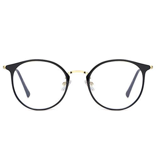 DUCO Gamer Brille Computerbrille Blaulicht Blendschutz Anti-Erschöpfung UV Schutzbrille für Smartphone Computer oder Fernseherbildschirm W013 (Schwarz)