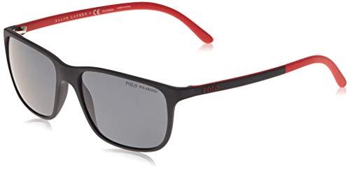 Ralph Lauren POLO 0PH4092 Gafas de sol, Matte Black, 58 para Hombre