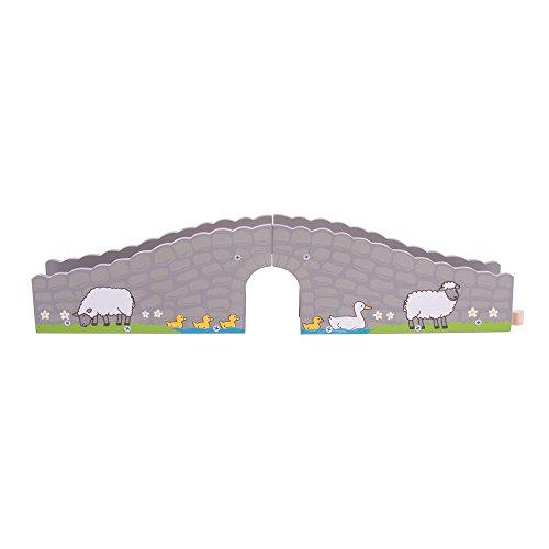Bigjigs Rail Pont de Ferme | Train en Bois | Circuit Train Bois | Jouet Enfant | Jouet Éducatif | Cadeau Enfant | Jouet en Bois | Compatible avec Autre Marques de Train en Bois