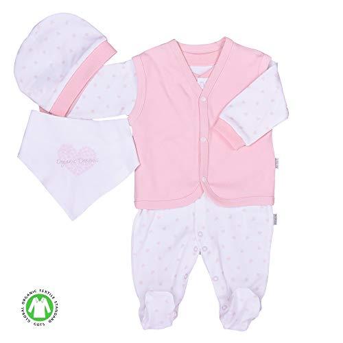 Sevira Kids - Kit naissance en coton bio - vêtements Bébé 4 pièces - Collection Dreams
