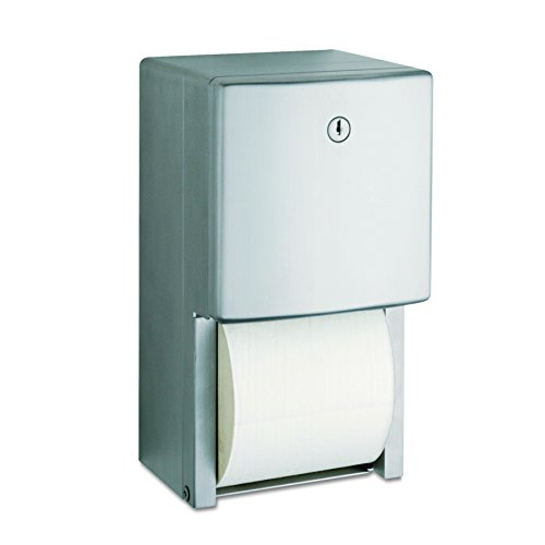 Bobrick 4288 ConturaSeries Two-Roll Tissue Dispenser, 6 1/16' x 5 15/16' x 11'