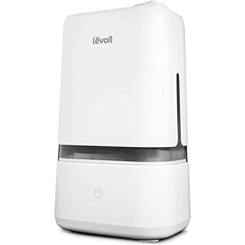LEVOIT Humidifiers for Bedroom, 4L Ultrasonic Cool Mist Air Vaporizer for for Large Room Babies, Essential Oil Tray, Quiet Operation, Auto Shut-Off, Lasts up to 40 Hours, Gray
