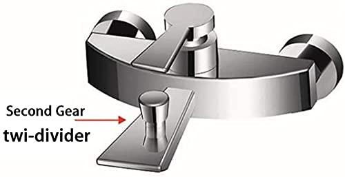 MLFPDXC-Grifo de bañera de latón cascada baño grifo de bañera grifo de ducha monomando conjunto grifo de bañera montado en la pared con ducha de mano estilo de agua fría y caliente d-Style_D