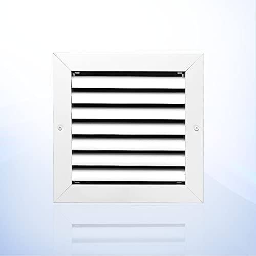 8 X 8 inch Ceiling or Wall Vent Cover in Aluminum, Return air Grille. HVAC registers, grilles & Vents, ac Vent Cover. The Outer Size is 9.625