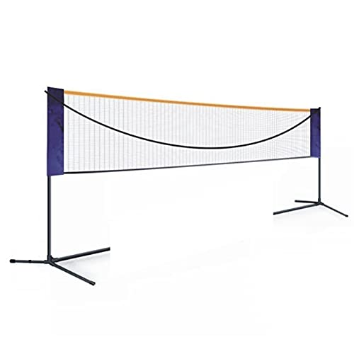 DFNESNN Portable Badminton Net Set for Tennis, Soccer Tennis, Pickleball, Kids Volleyball Easy to Install Nylon Sports Net with Poles Indoor Outdoor Courts Beaches Driveways (Color : 3.11.55)