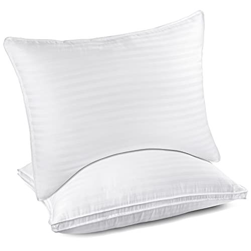 Queen Size Pillows Set of 2, Hotel Quality Comfortable & Premium Gel Pillows, Luxury Soft Support Bed Pillows for Sleeping, Side, Back, Stomach Sleeper - 20 x 28 Inches