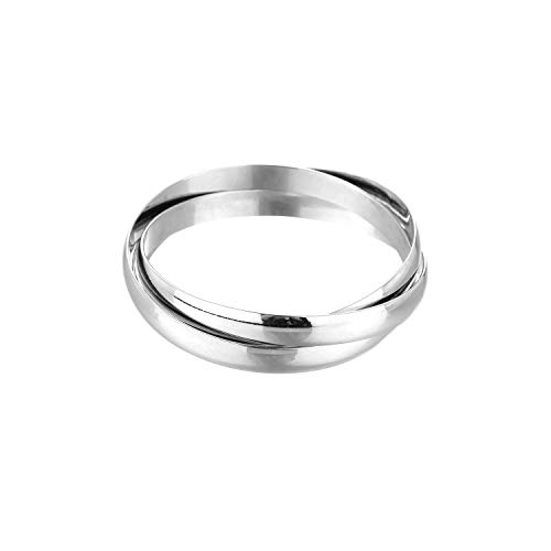 Jones New York Plain Silver Three Intertwined Bangle Bracelet