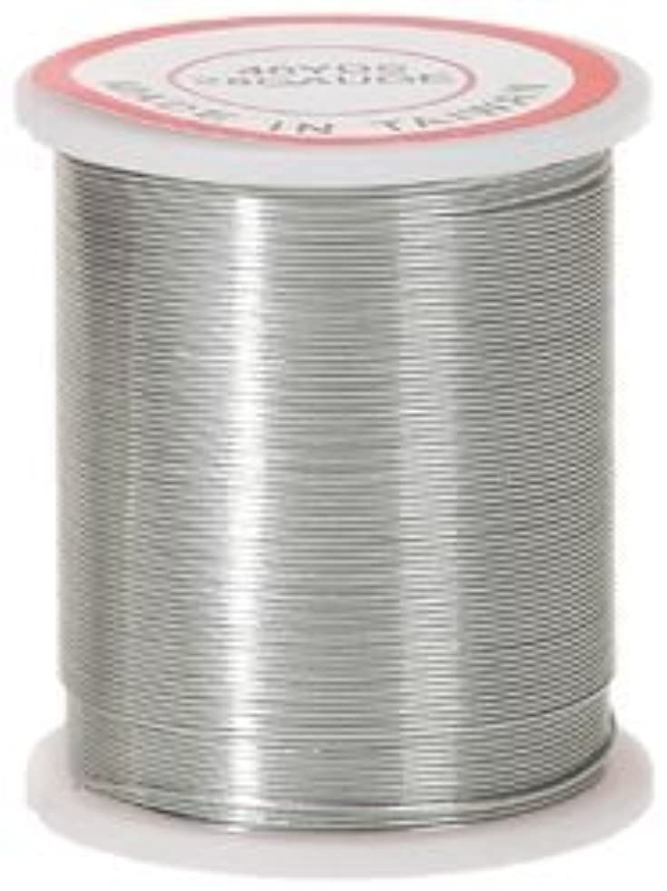 Bulk Buy: Darice Beading Wire 28 Gauge 40 Yards/Spool Silver 32028-3 (6-Pack)