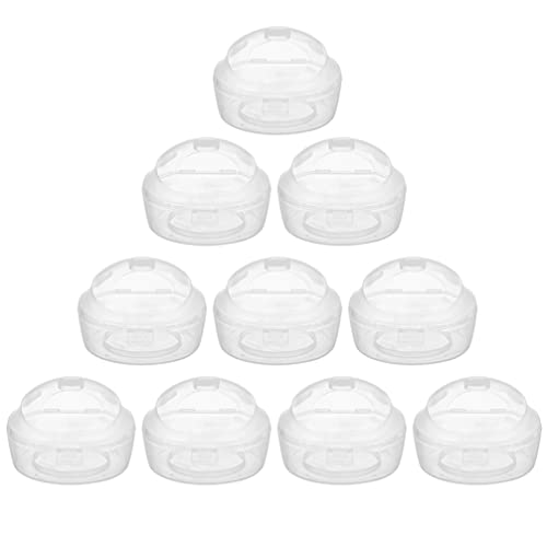 Toddmomy 10pcs Pacifier Case Baby Pacifier Storage Bag Clear Pacifier Holder Case Transparent Infant Soothie Container Baby Silicone Pacifier Cover