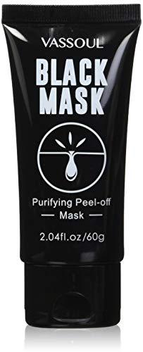 Vassoul Black Mask, Peel Off Mask, Blackhead Remover Mask, Charcoal Mask, Blackhead Peel Off Mask (Black;)