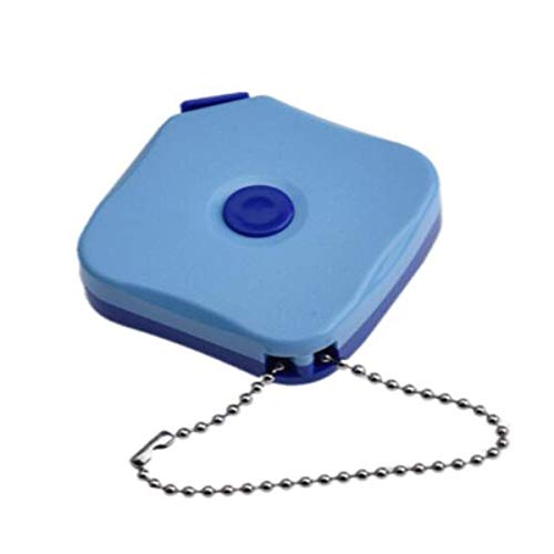 LILICEN LYJ Cinta métrica, Mini 2 Medidor de Cinta de Medida, la Regla de medición de Altura con Cinta métrica Una Suave Tres pies Regla Especial, Estable pie Azul (Color: Azul, tamaño: 2m)