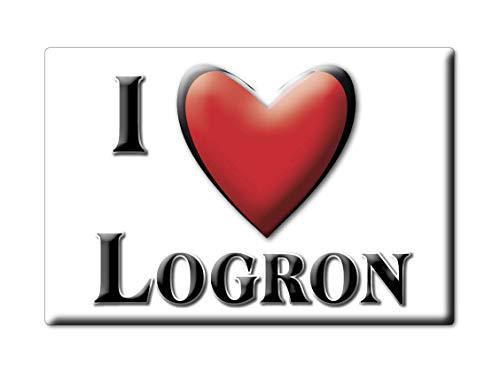 Enjoymagnets LOGRON (28) Souvenir IMANES DE Nevera Francia Champagne ARDENNE IMAN Fridge Magnet Corazon I Love