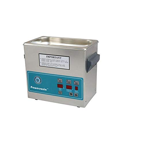 Crest Ultrasonics 0230PD132-1 Model P230 Table Top Cleaner with Power Control, Digital Timer/Heat, 0.75 gal Volume, 132 Khz/115V, 0.75Gallons, Degree C