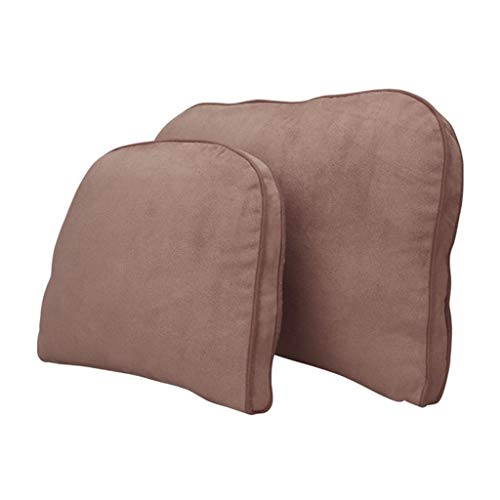 Buy Bargain Seat Set Head Waist Pillow, Adult Child Mat Car Seat Office Chair Lounge Chair Cushion Travel Business Trip Rest Relax Pillow (Color : Brown)