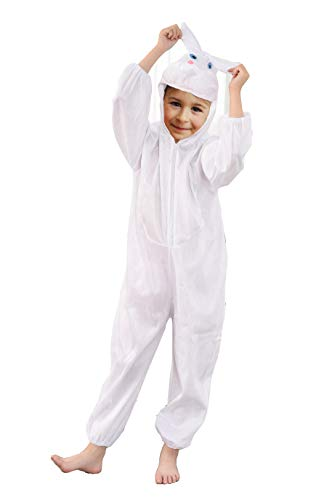 Fun Play Rabbit Costume Kids Easter Bunny Costume - Fancy Dress Animal Onesie for Boys and Girls - Children Cosplay Dress UpCostumes for Large 5-7 years (122 CM)