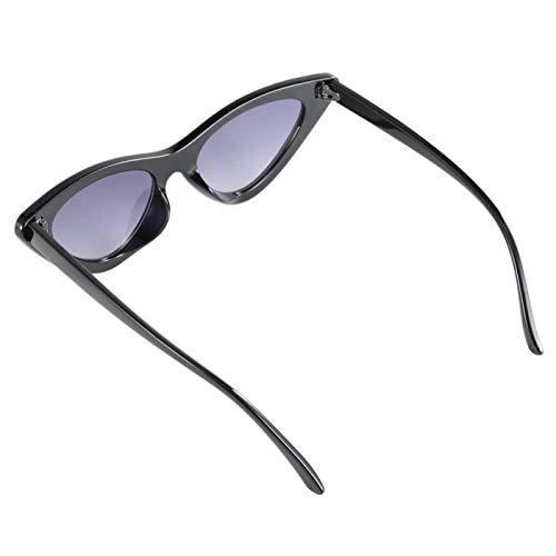 Sin deformación Adorno de moda de gafas de estilo vintage, para conducir en verano, montar a caballo(Bright black full gray film)