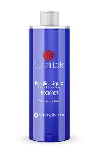 Liquido Acrilico 500ml ideal para Principiantes | Monomero para uñas acrílicas | Secado Lento - medio ideal para Principiantes