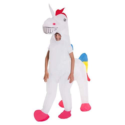 Morph MCKGIUN Aufblasbares Kostüm, Unisex-Kinder, Einhorn, Einheitsgröße