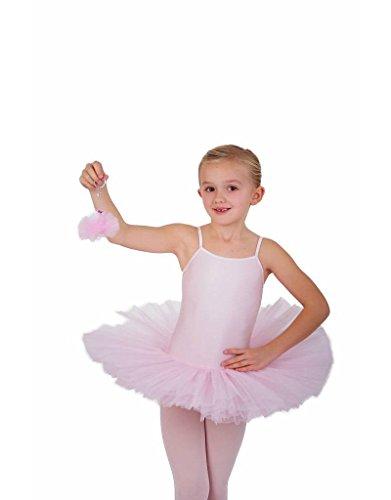 Ballett Trikot mit Tütü stehend - 4 lagig, ROSA (134)