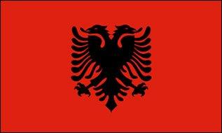 Outdoor albanie münchen drapeau 90 x 150 cm