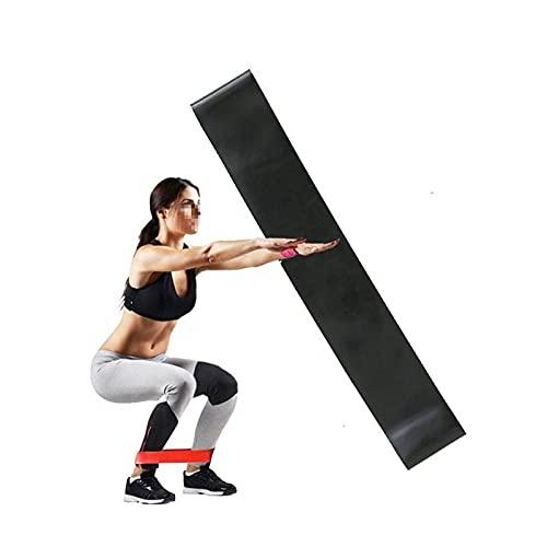 LWCYBH Nivel 5 Fitness Ejercicio Resistencia Banda Yoga Pilates Ejercicio Entrenamiento de Goma Banda Elástica Ejercicio Anillo Equipo de Aptitud Anillo de Hip (Color : Black)