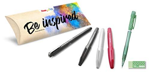 Pentel lettering set [beginner] Brush Sign Pen & Pointliner