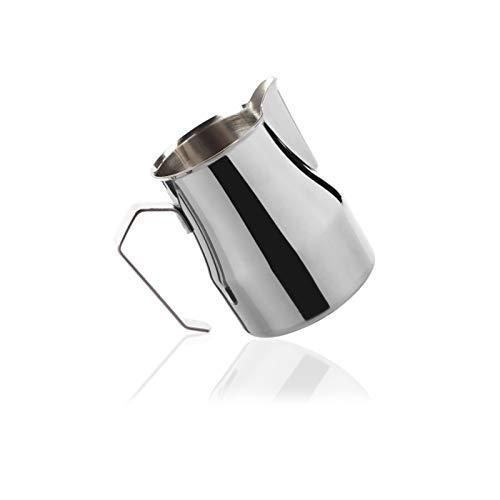 Jarritas para la Leche Jarra de Leche de Crema de Acero Inoxidable con Mango Espresso Leche de Espresso Jarra de Espuma Café Latte Lanzador de Vapor 350ml / 500ml Jarra Cafetera Universal